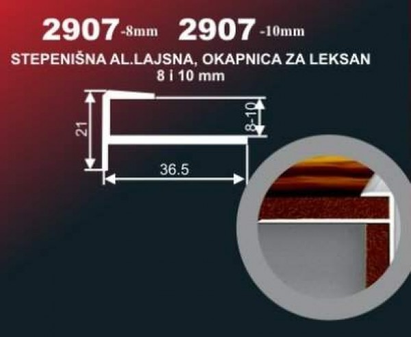 DO-ALU LAJSNA 2907-10MM/SR-1009 2.7M