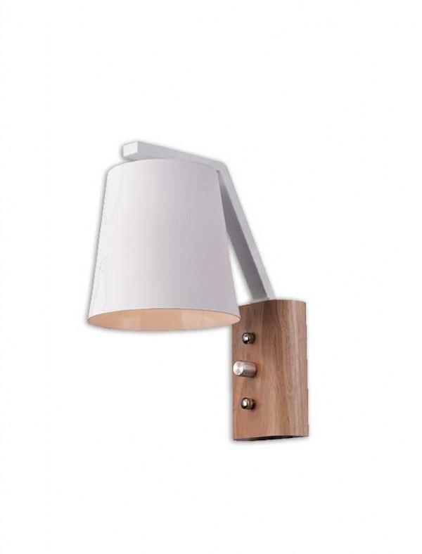 BB-RUSTIK 123 ZID.LAMPA 1*E27 BELA 05.0382