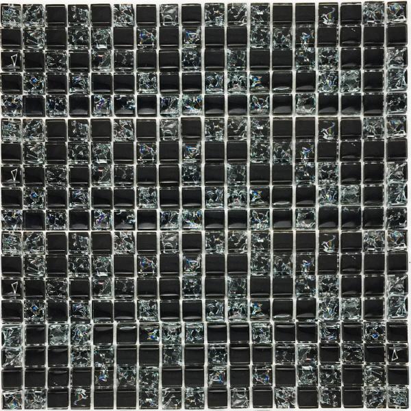 DOMIS-STAKLENI MOZAIK BLACK-007 305X305X8/1,023M2-6579