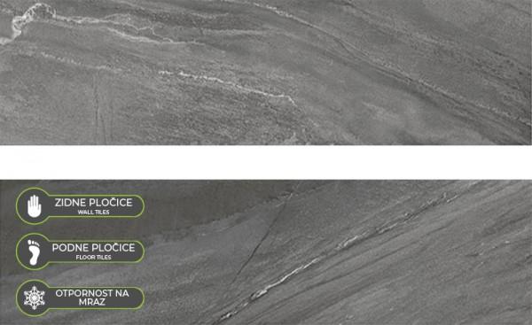 SERRA-PLOC.NORTH STONE ANTRACITE R10 17X62 P1540A