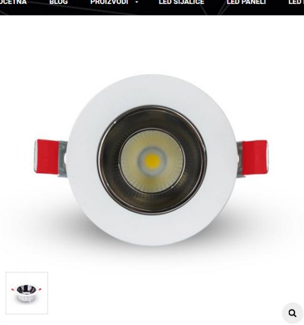 LYNCO-643000009 DWL LED 9W 6500K LUX BELO-CRNI COB
