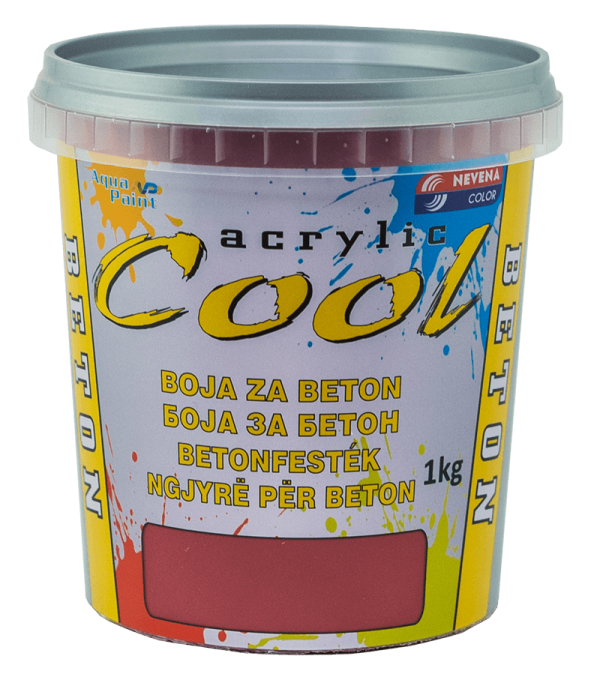 COOL-BOJA ZA BETON 1 kg- 07 BORDO