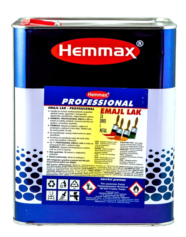 HEMMAX EMAJL LAK  2.5l-CRVENI